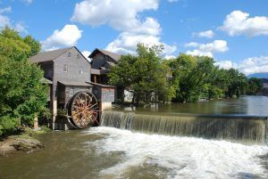 The Old Mill on the Little Pigeon River in Pigeon Forge TN.