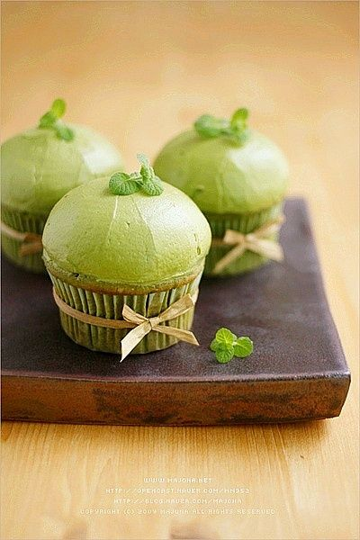 green tea cupcakes. I forever love anything green tea!