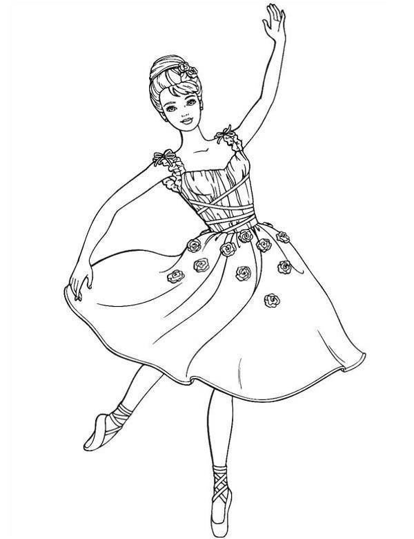 Printable Barbie Ballerina Coloring Pages Dance Coloring Pages Barbie Coloring Barbie Coloring Pages