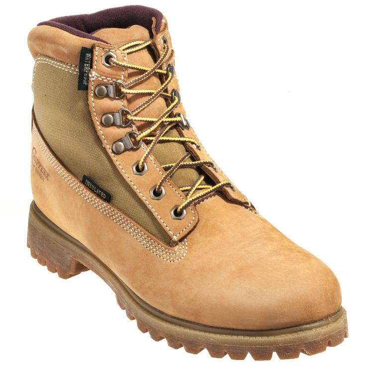 Chippewa Boots Men's Tan 24514 Waterproof  Insulated Work Boots