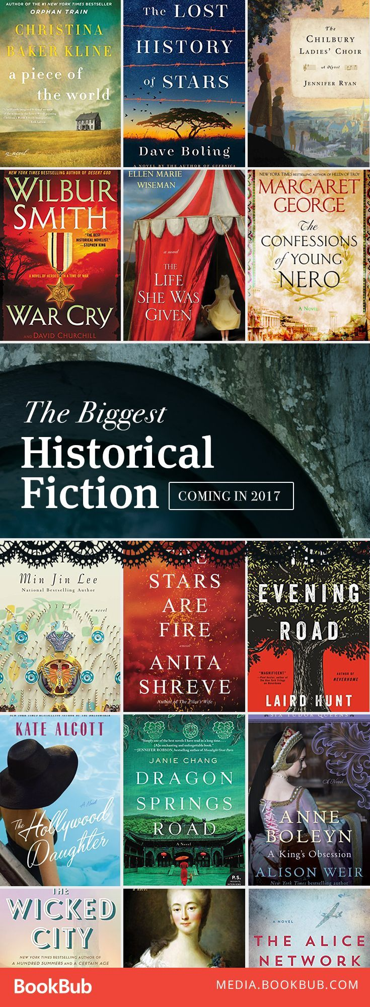 The biggest historical fiction books to read this year, including titles from Kate Alcott and Alison Weir.