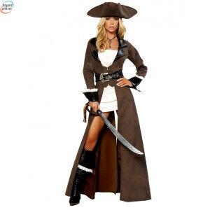 Deluxe Kaptein pirat kostyme