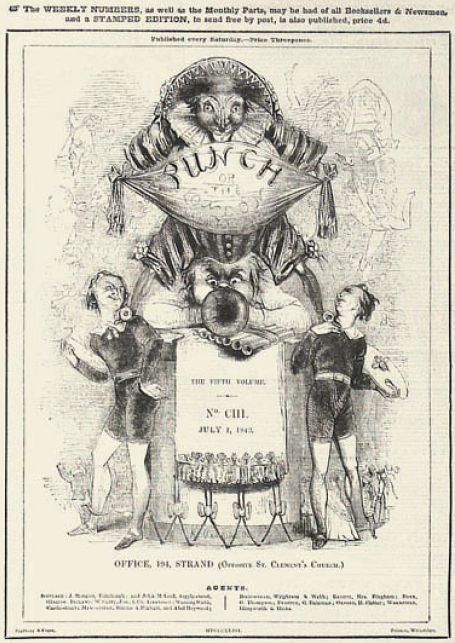 Punch magazine cover 1843 july 1 fifth volume no 103 - Punch (magazine) - Wikipedia, the free encyclopedia