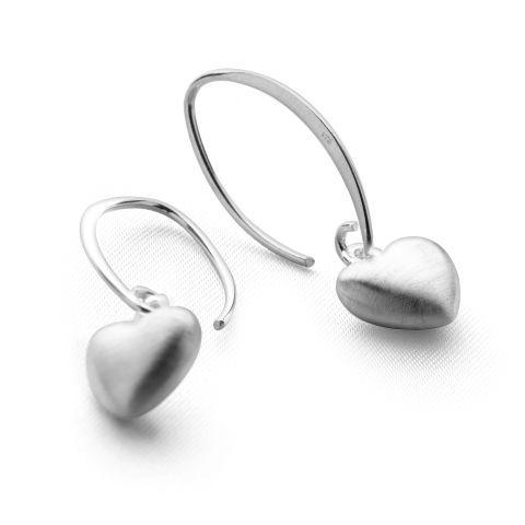 Glazed Heart Earrings