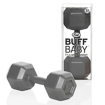 So buying this baby rattle for the next of our athletic/jock friends that has a baby boy. Too funny!