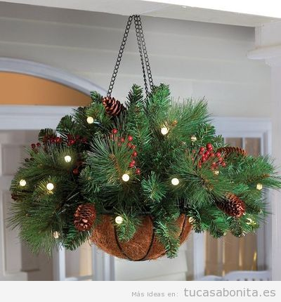 M s de 25 ideas incre bles sobre decoraciones de navidad for Luces decoracion exterior