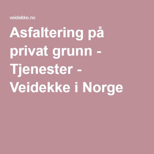 Asfaltering på privat grunn - Tjenester - Veidekke i Norge