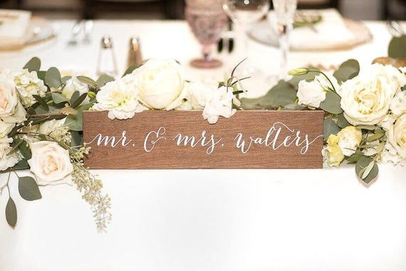 Name Sign Family Name Sign Mr And Mrs Signs Mr And Mrs Mr Etsy In 2020 Wooden Wedding Signs Signing Table Wedding Wedding Signs