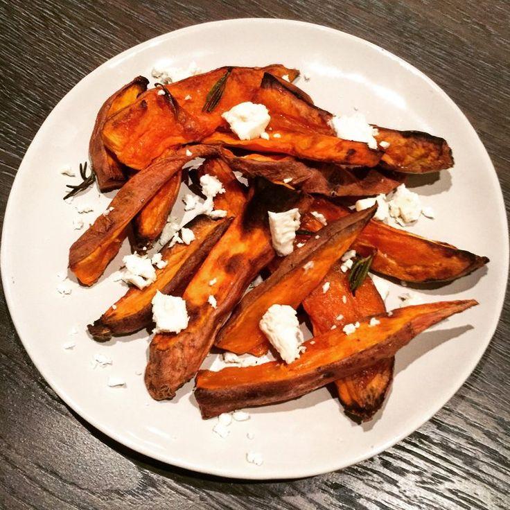 Sweet Potato Chips With Rosemary & Feta