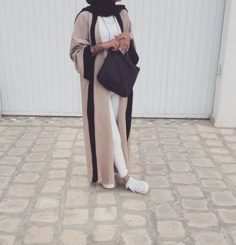 neutral dubai abaya style- Abaya hijab fashion from Dubai http://www.justtrendygirls.com/abaya-hijab-fashion-from-dubai/