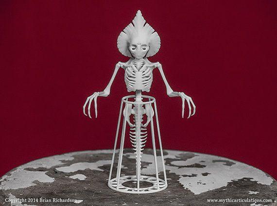 Flatwoods Monster Skeleton 3D Print Taxidermy Sculpture