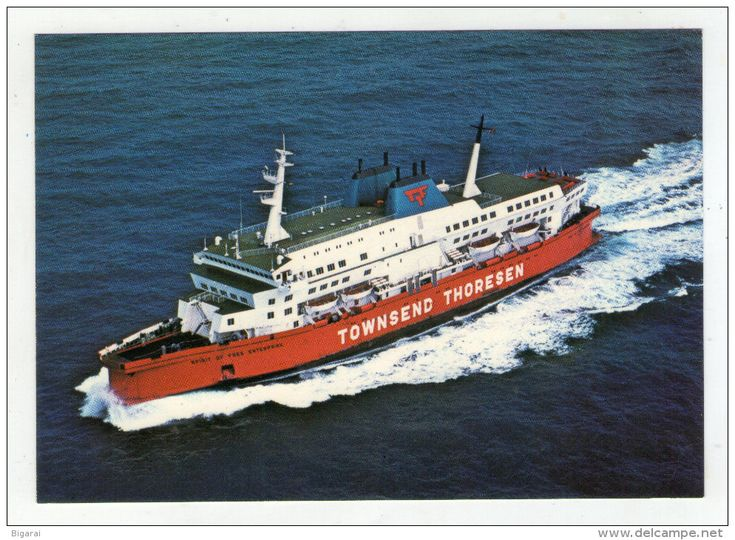 Ferries - CP.. CAR FERRY . TOWNSEND - THORESEN . SPIRIT OF FREE ENTERPRISE . DOVER . CALAIS . ZEEBRUGGE . SOUTHAMPTON . LE HAVRE