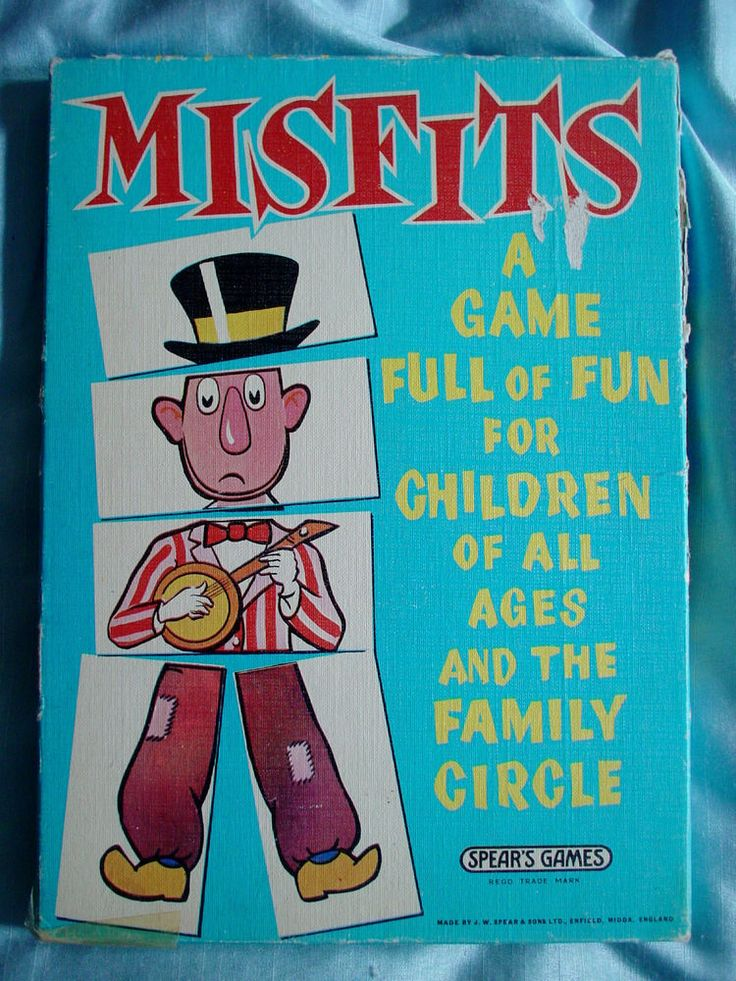 Vintage Spear's Games - Misfits Game - 1964 - Complete