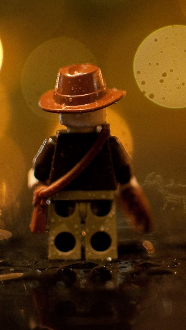 Indiana Jones Lego In The Rain iPhone 5s Wallpaper