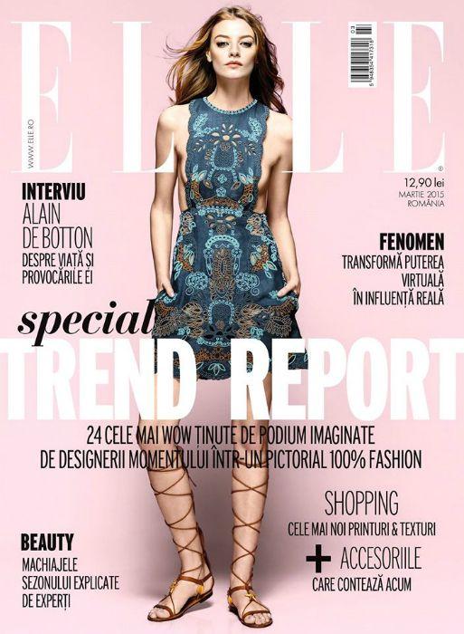 Cover ELLE Romania, March 2015