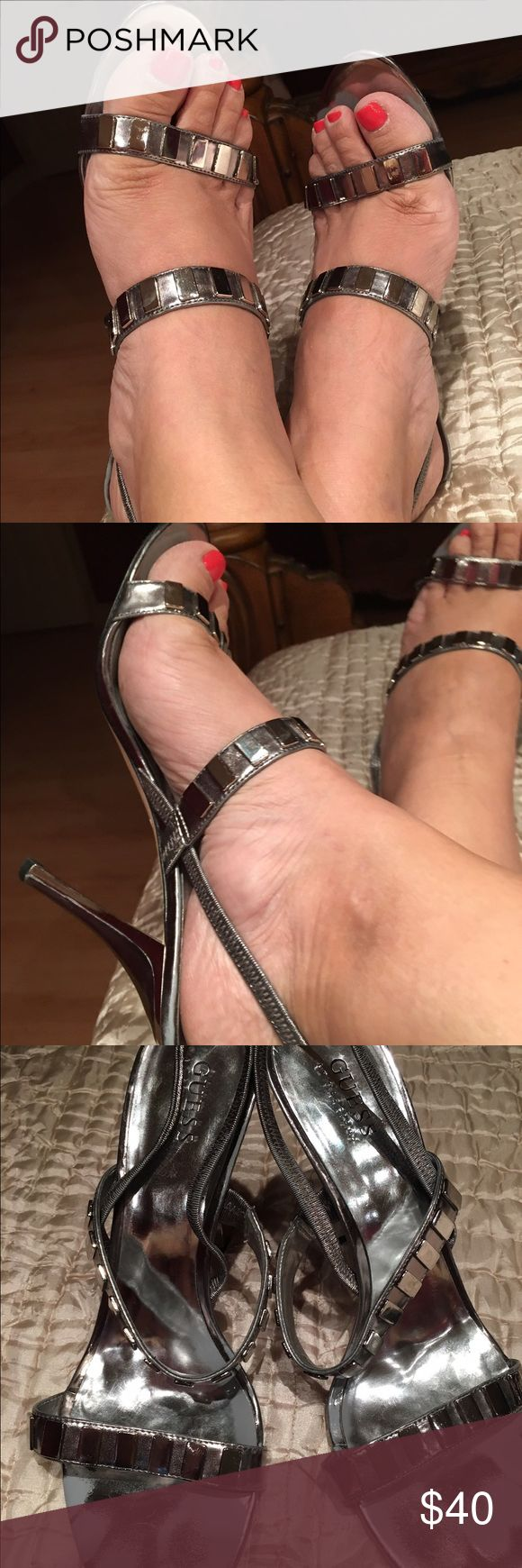 Silver high heel sandals High heel sandals Guess bi Marciano Guess by Marciano Shoes Heels