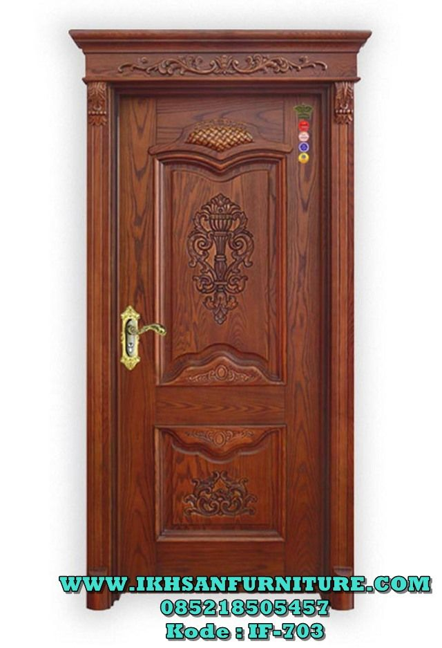 Pintu Kamar Ukiran Mewah Kayu Jati