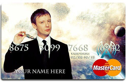 The MasterCard: Whovian, Nerd, Mastercard, Timey Wimey, Doctorwho, Credit Cards, Doctor Who, Dr. Who, Master Card