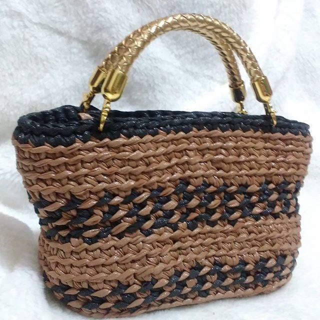 сумка клатч из трикотажной пряжи крючком