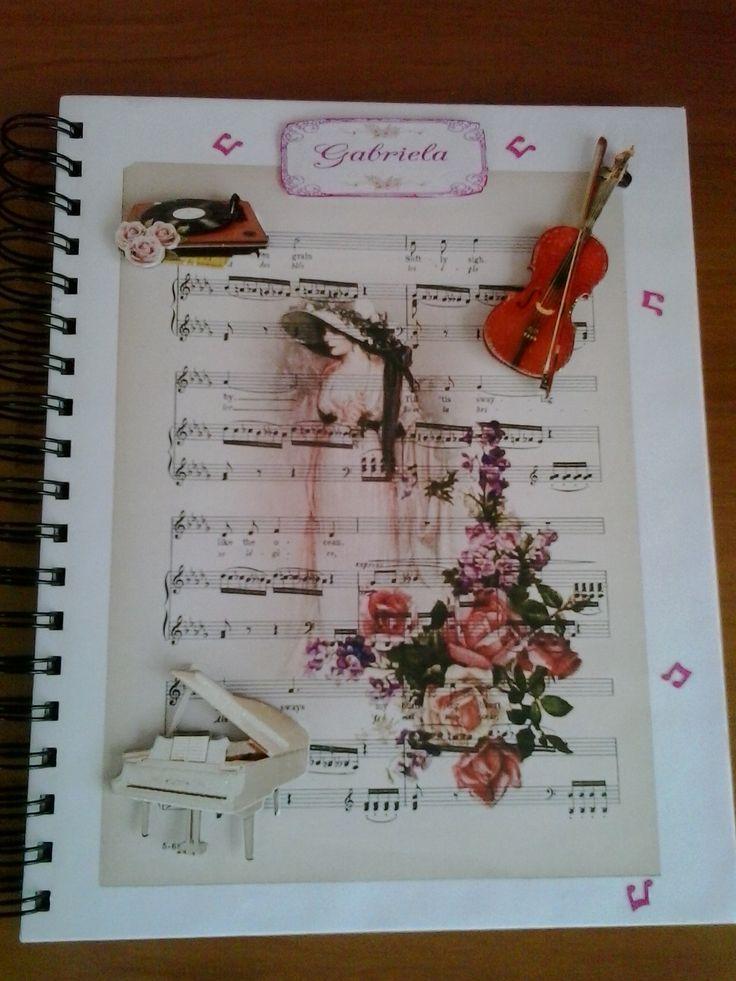 Libreta Personalizada Musical