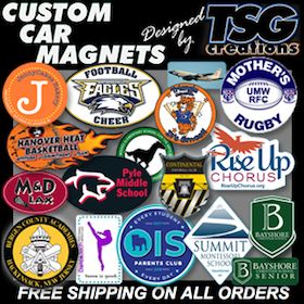 "FACT: Custom #Car #Magnets, #Window #Decals, #CustomBalls & more are ""Nothing But The Best"" at http://www.TSGcreations.com. NO ONE beats our #value & designed #impact. For the best in #carmagnets & more, come to http://www.TSGcreations.com & the REAL #tsgsports at http://www.TSGsports.com"