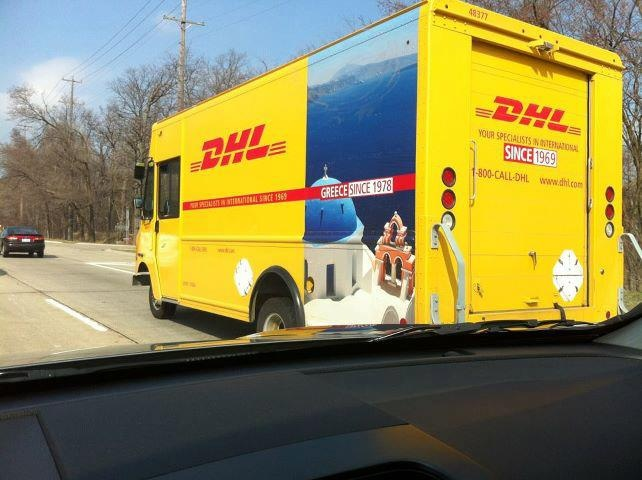 This photo of a DHL truck was taken in Michigan, Detroit. I guess we need to thank DHL for promoting Greece.
