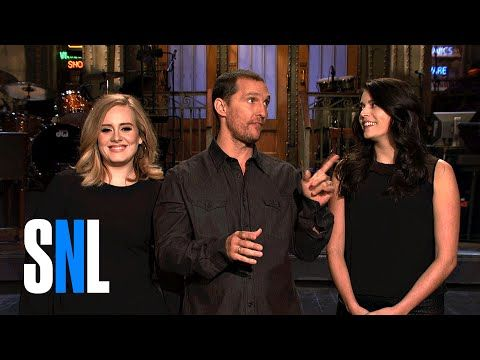 SNL Host Matthew McConaughey Tells Adele and Cecily a Quick Story - YouTube