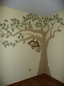 painting a tree in the corner of our room!