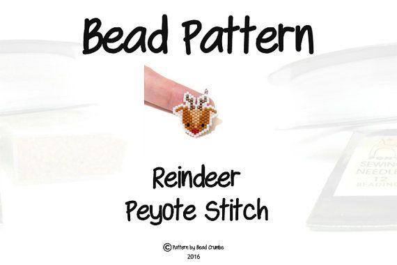 Red Nosed Reindeer Beading Pattern Christmas Seed by BeadCrumbs