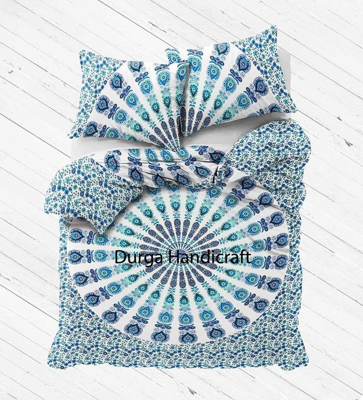 Mandala Duvet Cover & Pillow Cotton Quilt Cover Indian Blanket Cover Bedding Set #Handmade #Traditional #DuvetCoverDoonaCoverQuiltColer