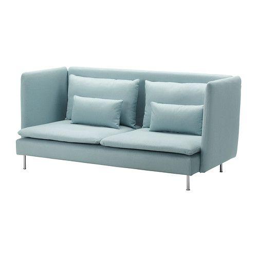 SÖDERHAMN Bezug 3er-Sofa, hohe Rückenlehne, Isefall helltürkis Isefall helltürkis