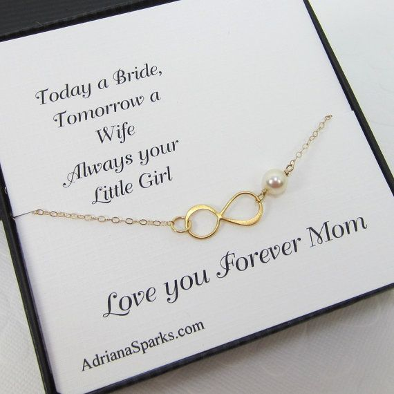 Mother of the bride or groom Infinity  Bracelet, mothers gifts, gifts for mother in law, bridal party jewelry, mother card, on Etsy, $25.00