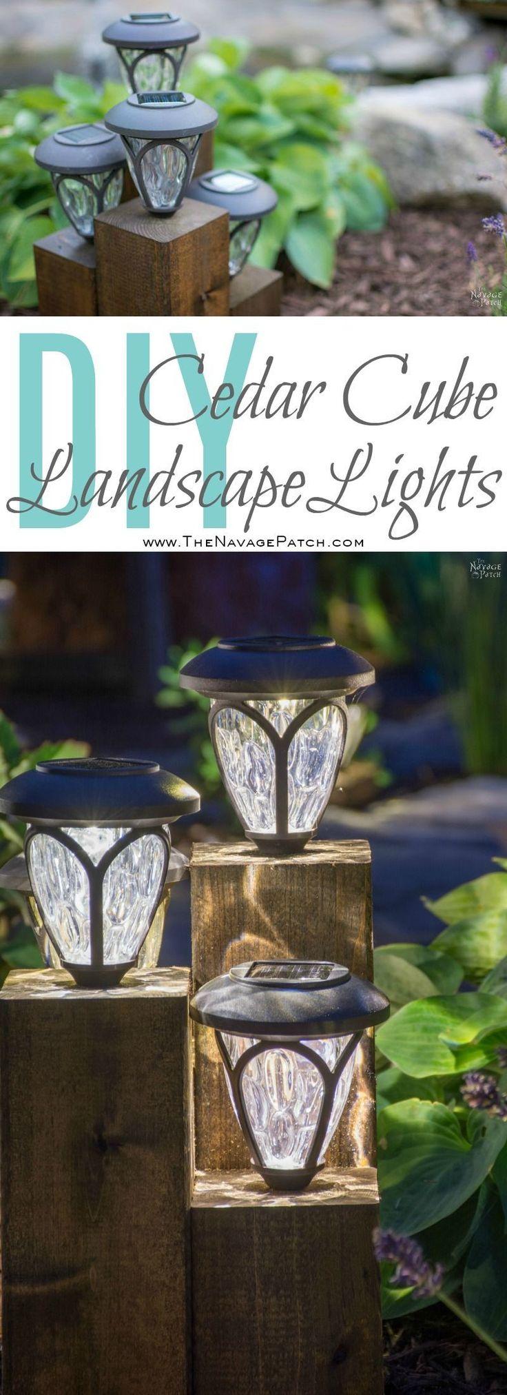 Outdoor living design ideas amp inspiration gallery install it direct - Diy Cedar Cube Landscape Lights