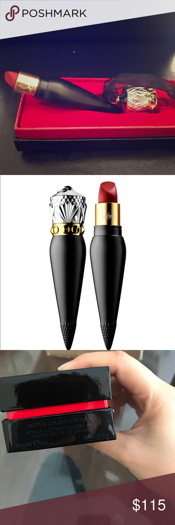 Lipstick A highly-pigmented matte lip color that provides non-drying comfort on the lips and leaves a suede finish. Christian Louboutin Makeup Lipstick