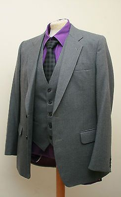 Retro 60's Skopes International collection Worsted 3 Piece grey suit