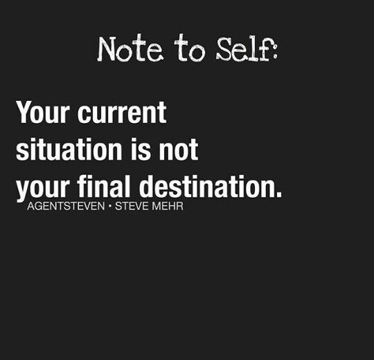 Note to self!