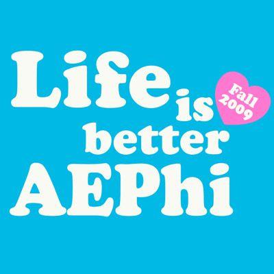 Alpha Epsilon Phi Sorority Rush Shirts Idea