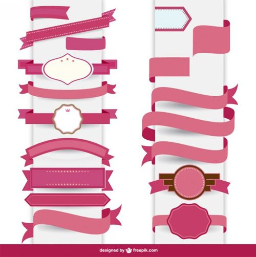 Ribbon-pink-decorative-template