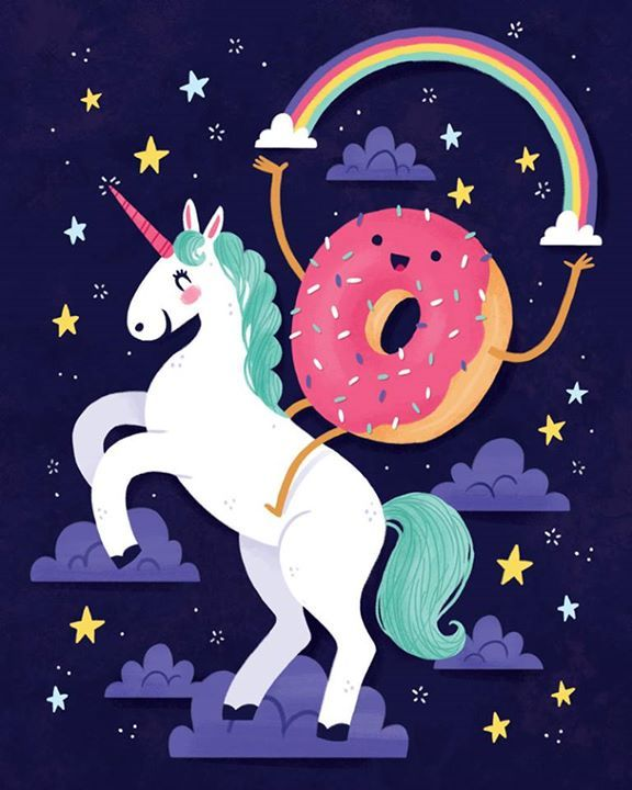 Doughnut riding a unicorn!