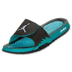 Men\u0026#39;s Jordan Hydro V Retro Slide Sandals | FinishLine.com | Black/White/