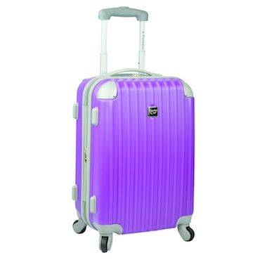 Really Scoot with Spinner Luggage  Lightweight suitcases with wheels help travelers quickly cover a lot of ground in an airport, and 360-degree spinner wheels make that travel easier than ever. The wheels rotate smoothly and quietly, making the suitcase more maneuverable.
