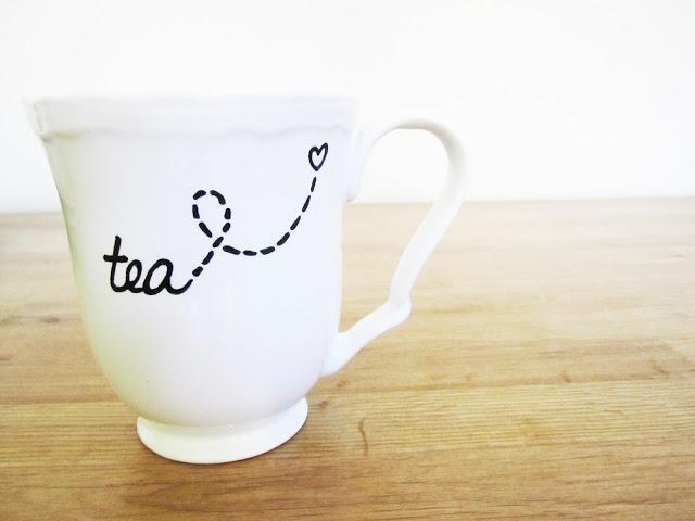 DIY hand painted mug