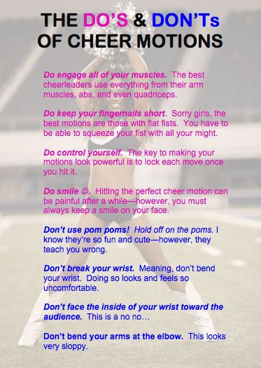 "Cheer Motions ""The Do's & Don'ts"" - Cheertime 101"