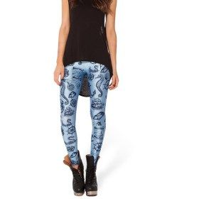 Tight Marine Animals Print Leggings