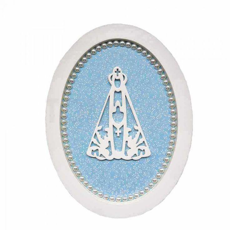 Quadro Oval Nossa Senhora Aparecida - Tommy Design