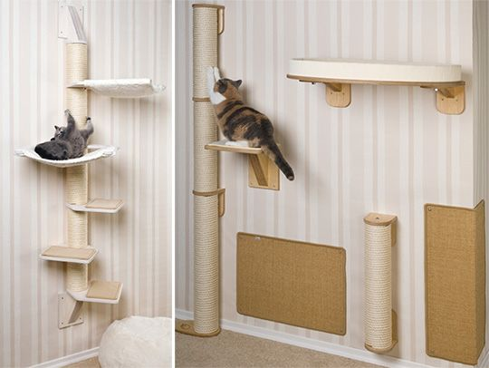 Profeline Cat Climbing Towers & Scratchers from Germany    These look fabulous! Except they do not ship to US. :-(    Maybe if we beg them? ;-)