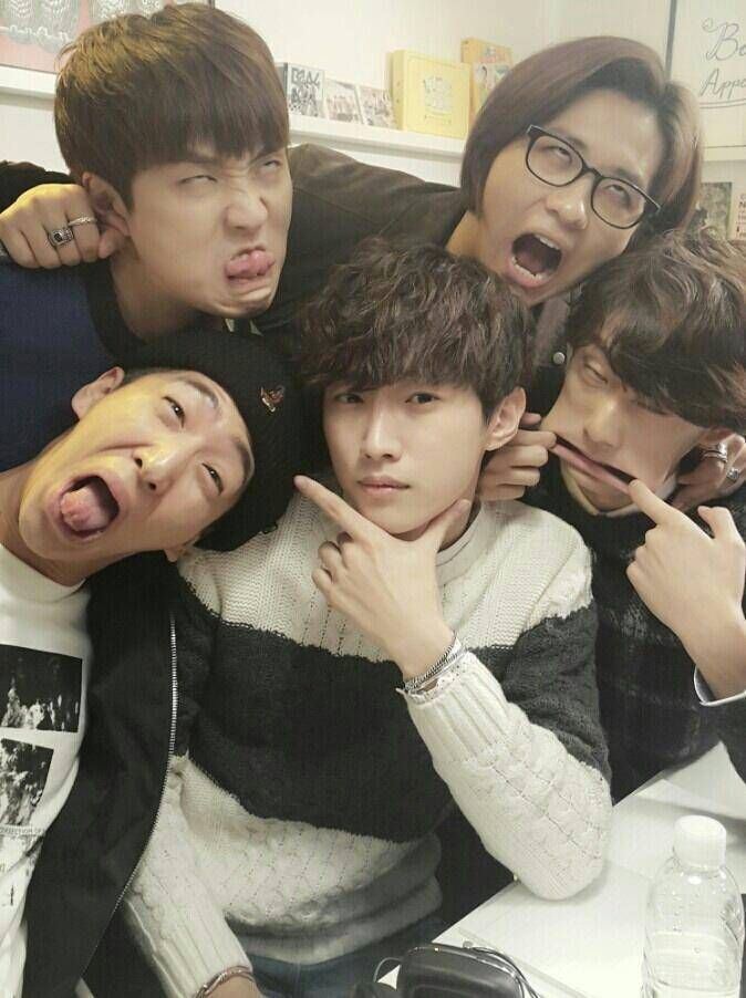 B1A4 cheer on Jinyoung's drama 'Perseverance, Goo Hae Ra' with derp faces   allkpop