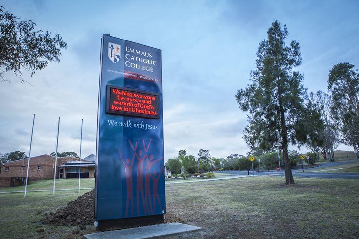 Emaeus Catholic College #CSI #CorporateSignIndustries #200 #series #custom #Design #signage #LED school #recognition #identity #sign