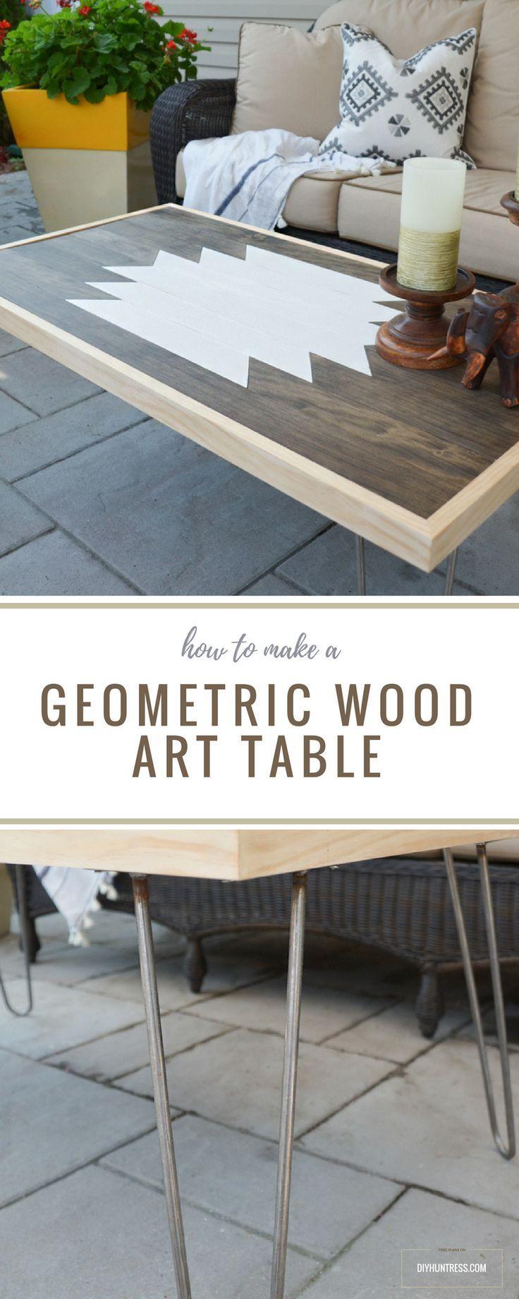 DIY Geometric Wood Art Table 591 best