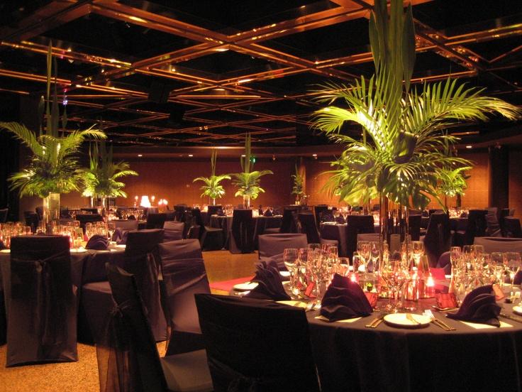 19 best world of weddings ballroom intercontinental adelaide intercontinental adelaide ballroom black linen greenery centrepiece junglespirit Images